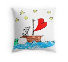 On the Good Ship Hope Throw Pillow