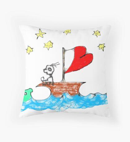 On the Good Ship Hope Throw Pillow