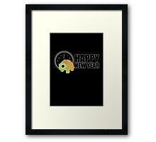 Happy New Year - Turtle Framed Print