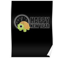 Happy New Year - Turtle Poster