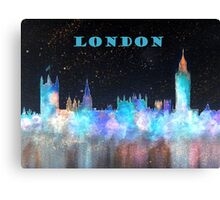 London Skyline With Banner Canvas Print