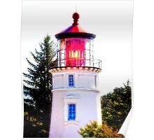 Umpqua River Lighthouse - Winchester Bay Poster