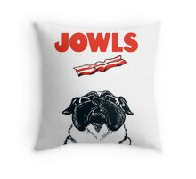 JOWLS Pug Movie Poster Parody Throw Pillow
