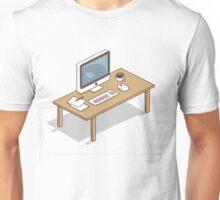 my apple computer desk Unisex T-Shirt