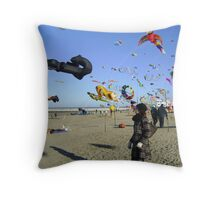 flyers on the Northsea. Throw Pillow