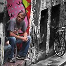 hanging out at Hosier (Lane) by geof