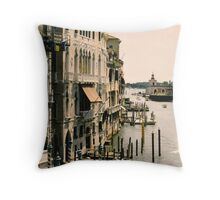 View of the Grand Canal, Venice Throw Pillow