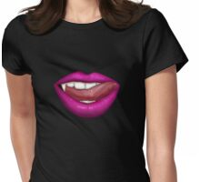 VAMPIRE LIPS - PINK Womens Fitted T-Shirt