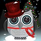 Top Hat Owl - Christmas by Adamzworld