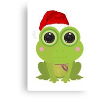Christmas Frog Canvas Print