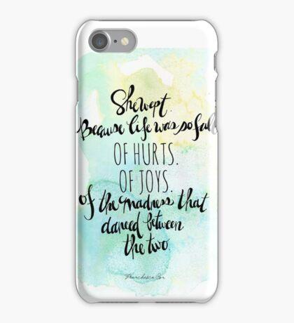She Wept. iPhone Case/Skin