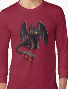Toothless, Night Fury Inspired Dragon. Long Sleeve T-Shirt
