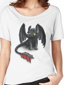 Toothless, Night Fury Inspired Dragon. Women's Relaxed Fit T-Shirt