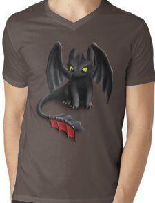 Toothless, Night Fury Inspired Dragon. Mens V-Neck T-Shirt