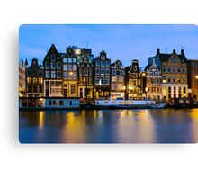 Houses in Amsterdam - The Netherlands Canvas Print