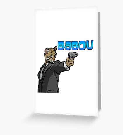 babou Greeting Card