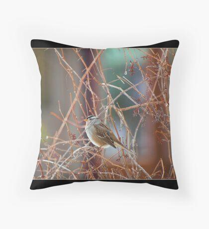 The Little Songbird 5X7 notecard Throw Pillow
