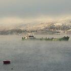 Cold morning mist on Loch Linnhe by mykanmo