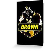 Antonio Brown - Pittsburgh Steelers Greeting Card