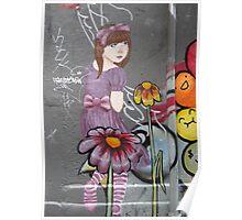 lost little girl?  Melbourne street art Poster