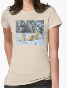Yoga Bear's nice knees Womens Fitted T-Shirt