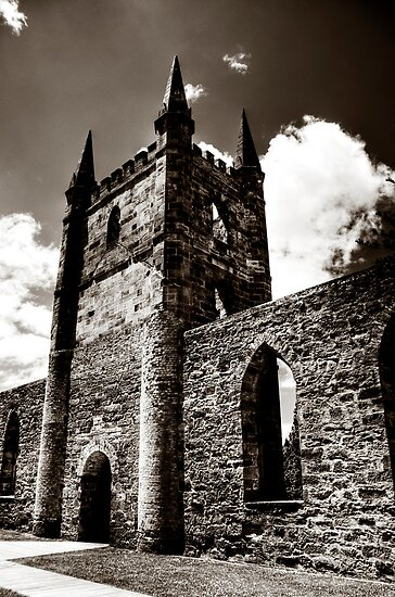 Church @ Port Arthur, Tasmania by Kate Caston