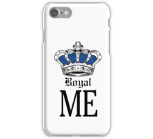 Royal Me - Blue iPhone Case/Skin