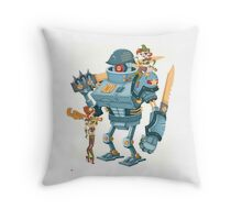 Bot Girls Throw Pillow