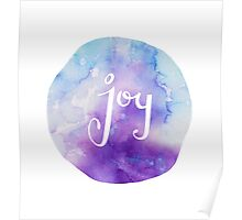 Watercolor Joy: Purple (can be modified) Poster