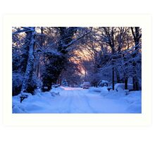 Snowy Sunrise Art Print