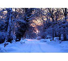 Snowy Sunrise Photographic Print