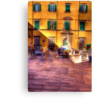 THE WATER FOUNTAIN LUCCA Canvas Print