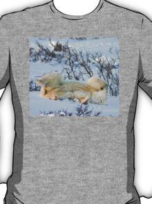 Yoga Bear side bite T-Shirt