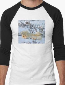 Yoga Bear side bite Men's Baseball ¾ T-Shirt