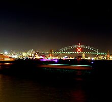 Neon harbour by Paige