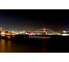 Neon harbour Photographic Print