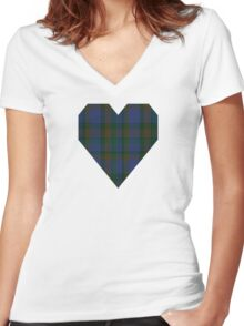 00116 Nova Scotia District Tartan  Women's Fitted V-Neck T-Shirt