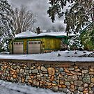 The House With The Stone Wall by K D Graves Photography