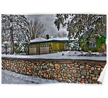 The House With The Stone Wall Poster
