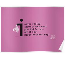 Thanks Mum - For everything Poster