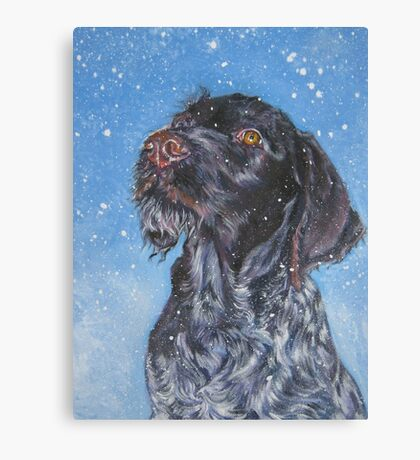 German Wirehaired Pointer Fine Art Painting Canvas Print