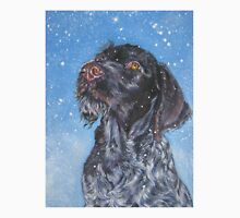 German Wirehaired Pointer Fine Art Painting Unisex T-Shirt