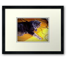 Batteries Charging Framed Print
