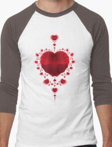 Red Hearts Men's Baseball ¾ T-Shirt