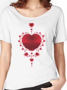 Red Hearts Women's Relaxed Fit T-Shirt