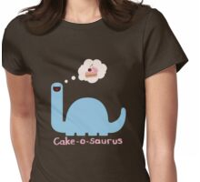 Cake-o-saurus DX Womens Fitted T-Shirt