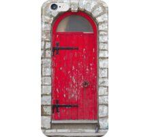 Old Red Door iPhone Case/Skin