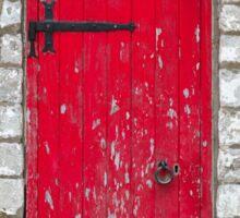 Old Red Door Sticker