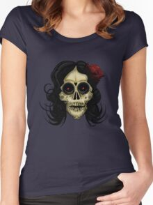 Day Of The Dead Women's Fitted Scoop T-Shirt
