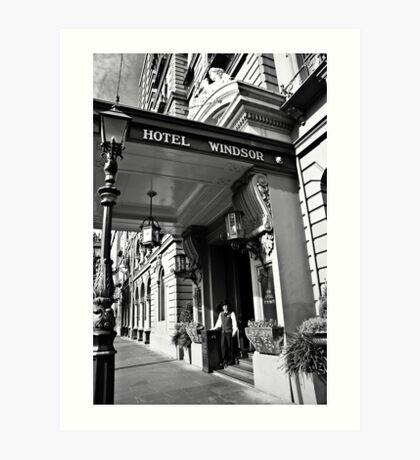 The Windsor Hotel Doorman - Melbourne Art Print